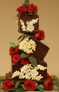 Cake Decorating Blog-CakeStackers-chocolate and rose topsy turvy