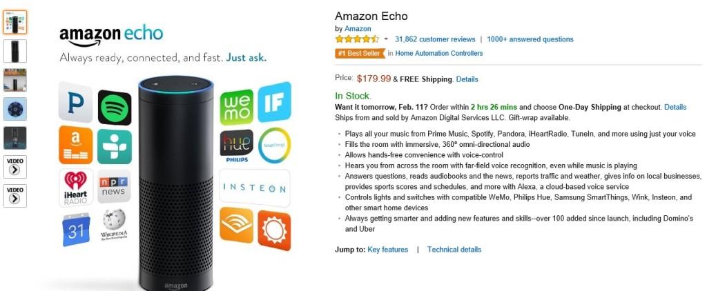 Buy Amazon Echo Bluetooth Speaker
