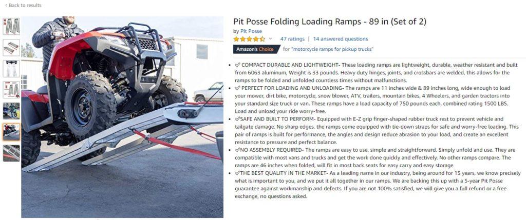 Pit Posse Motorsports - Aluminum Folding Ramps - Best Dirt Bike and ATV ramps