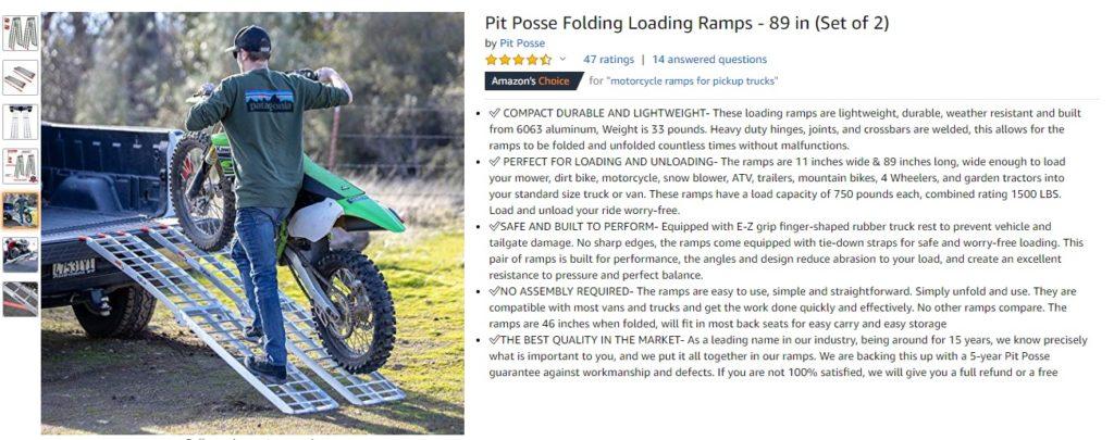 Pit Posse Motorsports - Aluminum Folding Rams