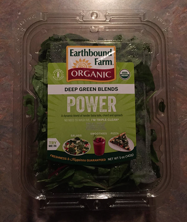 Earthbound Farm Organic Power Deep Greens Blend
