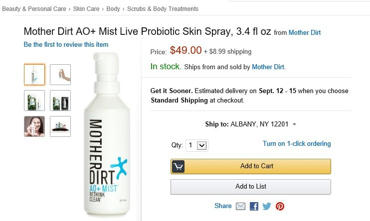 Mother Dirt AO+ Mist on Amazon -