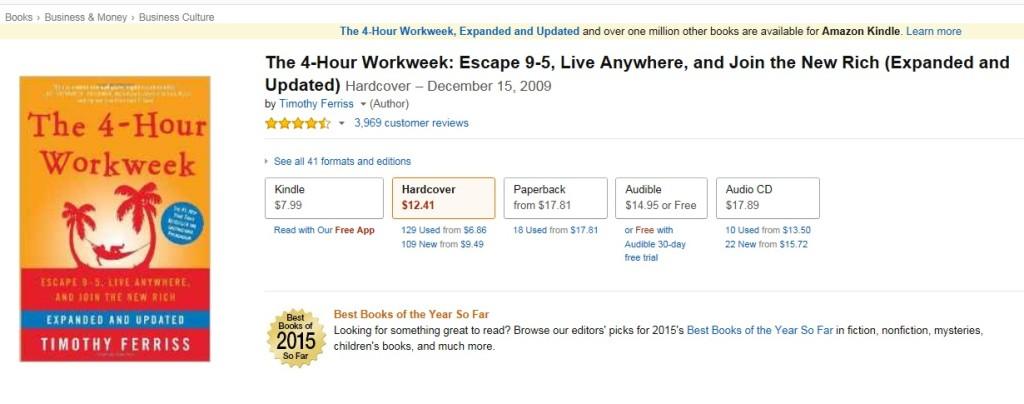 Tim Ferriss The 4-Hour Workweek