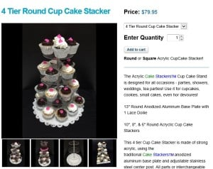 Cake Stackers Tiered Cupcake Stand - Acrylic Cupcake Stand - SAVE 5 percent with Coupon Code ACC525