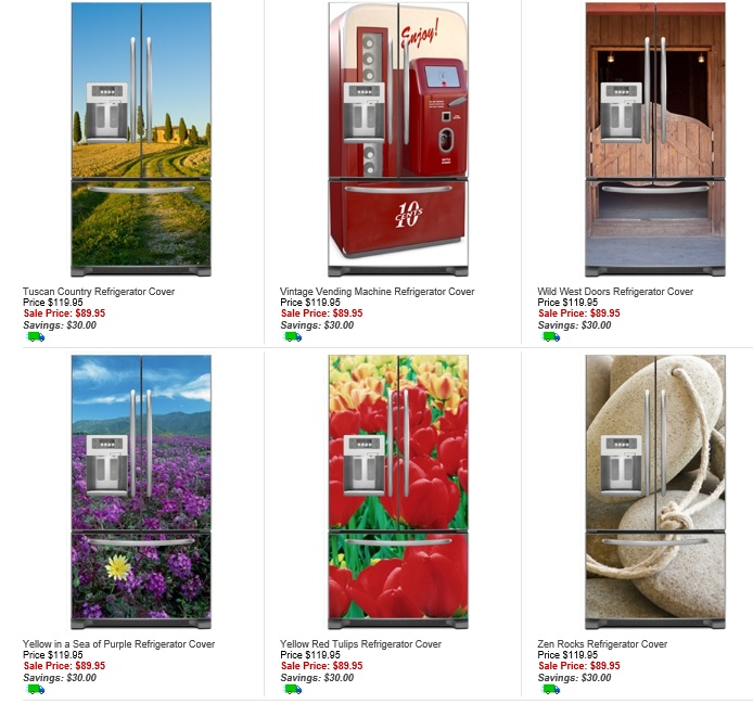 Merveilleux Fridge Fronts French Door Refrigerator Magnetic Covers  Sample Designs