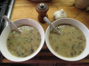 Wheat-free and Dairy-free (if you want) Cream of Mushroom Soup