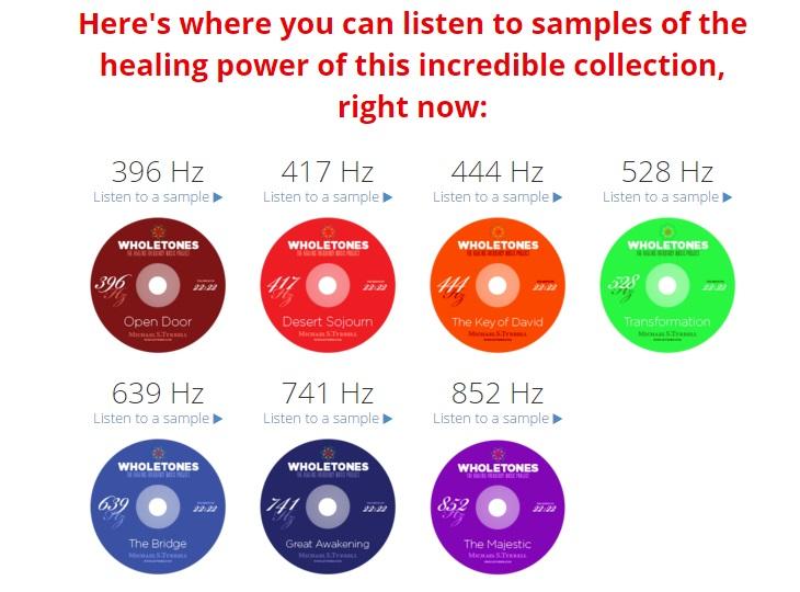 Wholetones healing frequencies music samples