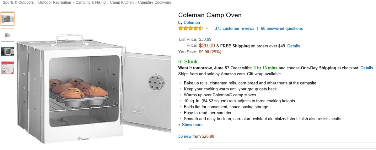25% off the Coleman Camp Oven! - 2019 Discounts and Promo