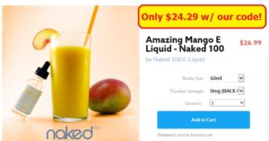 Amazing Mango E Liquid - Naked 100 - Breazy vape coupon