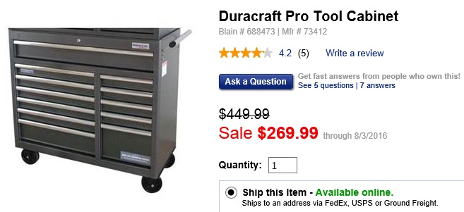 Blains Farm And Fleet Coupon Codes   Duracraft Pro Tool Cabinet