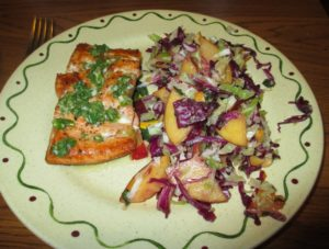 sun-basket-review-thai-style-salmon-with-peach-cabbage-slaw