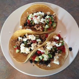 Sun Basket - Turkey Tacos with Roasted Red Pepper Salsa