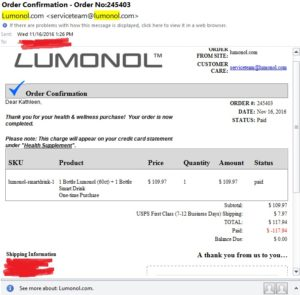 lumonol-purchase-receipt-kathy